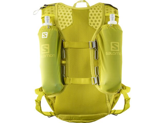 Salomon Agile 12 Zestaw z plecakiem, citronelle/sulphur spring